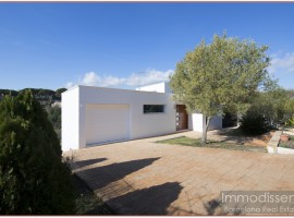 Ref. 1001 Large modern design house with straight and glazed lines.