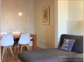 Ref. 3824 Fantastic modern and cozy apartment for rent fully equipped in Eixample.